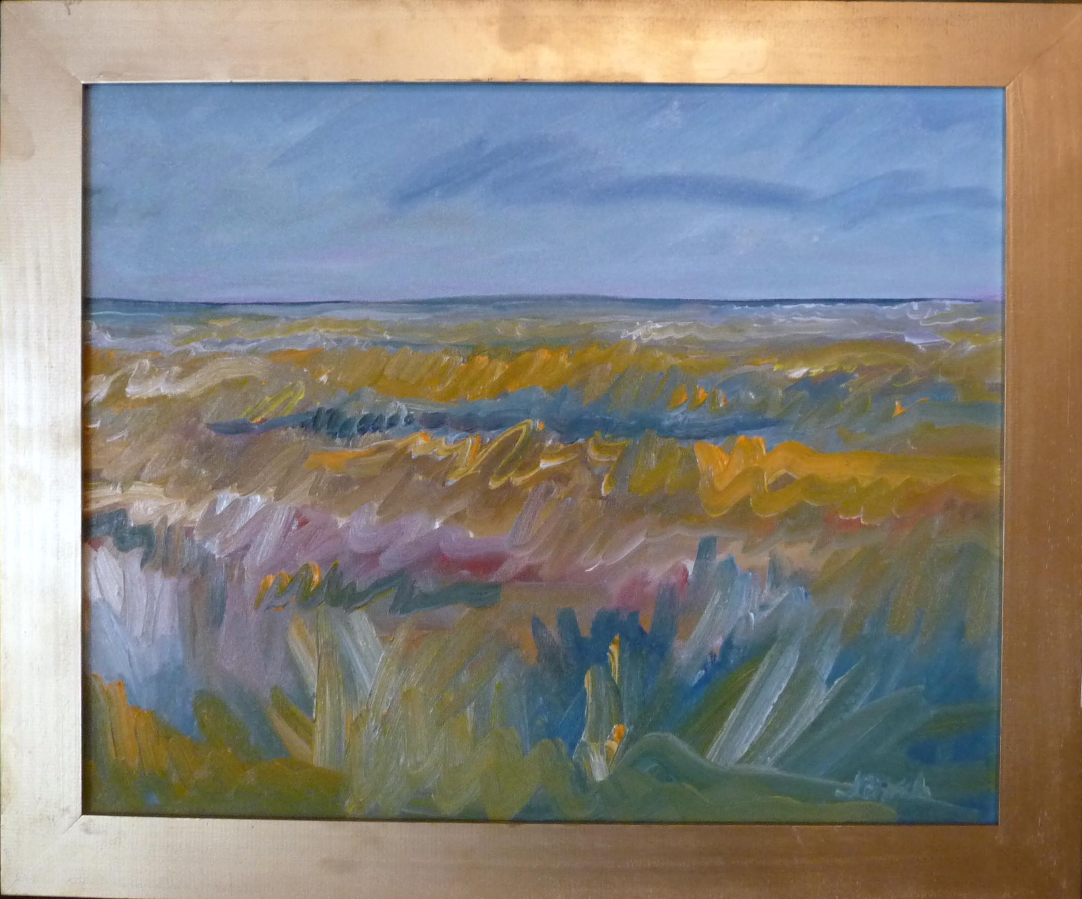 'PRAIRIE GRASS' 16X20 OIL PAINTING
