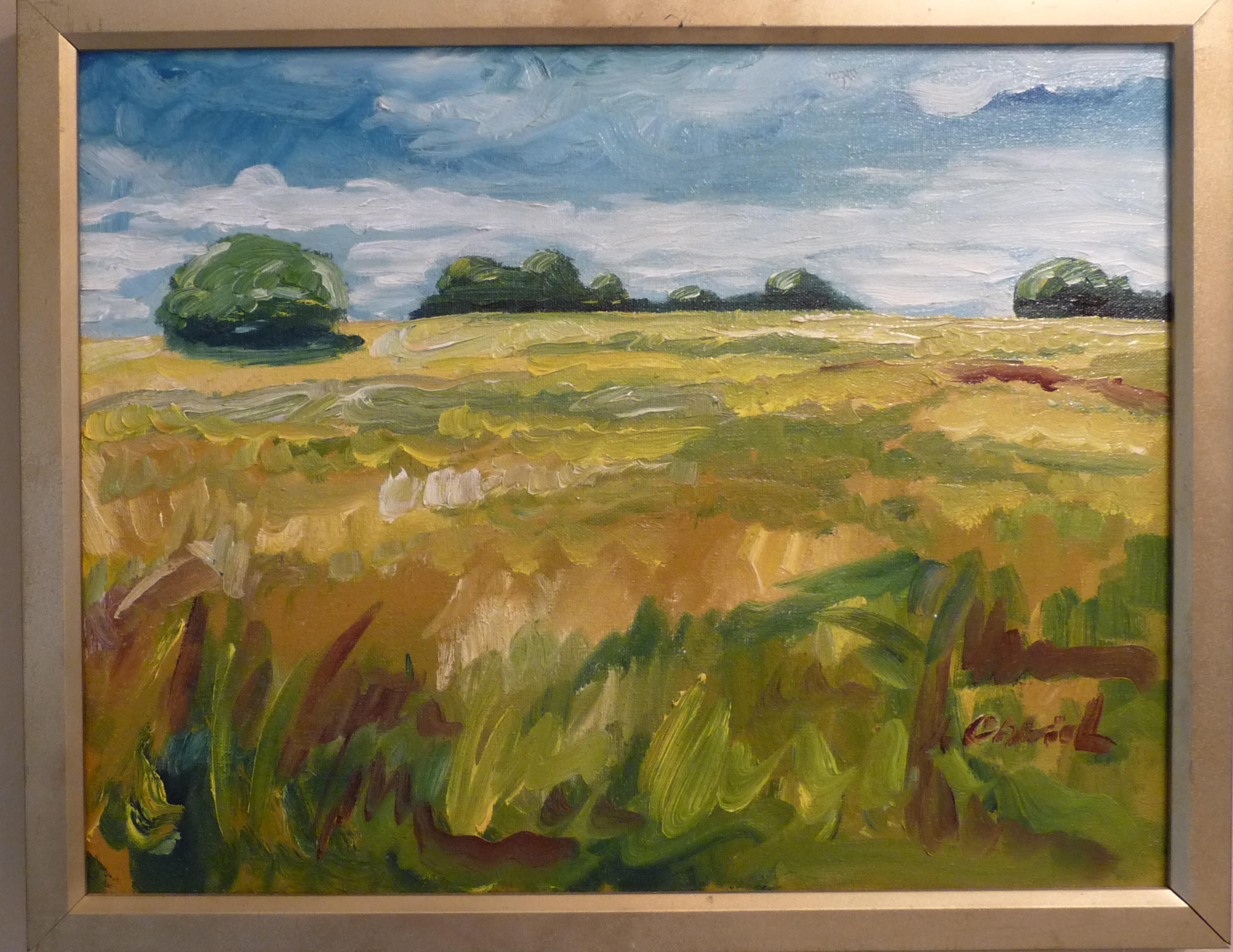 'PRAIRIE SHADE' 16X20 OIL PAINTING